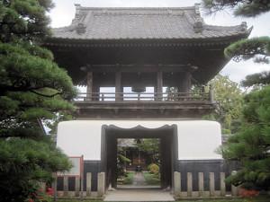 狭山市・広福寺山門(市指定有形文化財)
